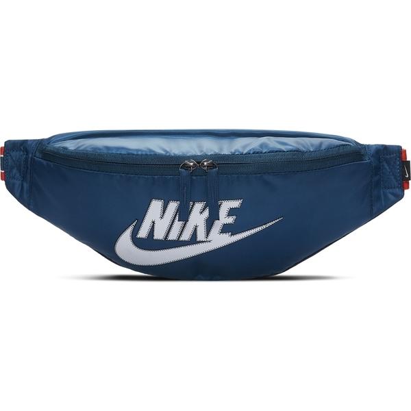 NIKE SPORTSWEAR HERITAGE 藍色 拼接 腰包 側背 肩背 隨身小包 (布魯克林) BA6093-474