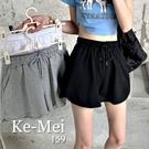 克妹Ke-Mei【AT65952】KOREA韓妞休閒感腰抽繩棉質運動短褲