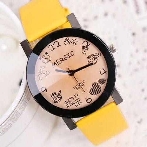 韓版潮流時尚手錶簡約情侶錶男錶中學生錶休閑皮帶女錶時裝石英錶CK【全館滿999折89折】