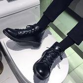 2019新款馬丁靴男中筒韓版潮流男鞋英倫風高筒皮鞋男