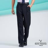 【Emilio Valentino】范倫鐵諾超柔素雅雙摺西褲-  深藍/素面