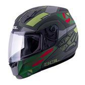 [東門城] SOL SM-3 戰將 消光灰/藍黑 雙重排氣系統 通風性佳 快拆式鏡片 雙D釦 可掀式安全帽