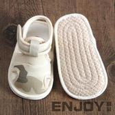 寶寶布涼鞋包頭0-1歲小孩學步鞋夏季軟底6-12個月嬰幼兒步前鞋男  enjoy精品