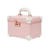 化妝包跟妝紋繡手提密碼化妝箱子可愛甜美收納袋大容量