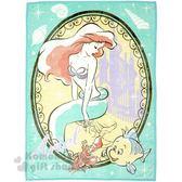 〔小禮堂〕迪士尼 小美人魚 雙人刷毛毯《綠.閉眼》140x200cm.毯被.厚毯 4992272-65859