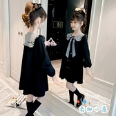 女童連身裙春裝兒童公主裙長袖大童小女孩裙子【奇趣小屋】