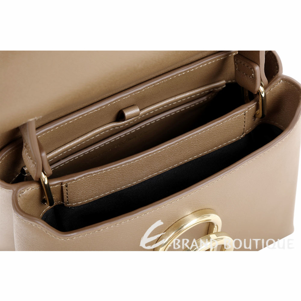 3.1 Phillip Lim Alix 金屬迴紋針造型手提肩背包(灰棕色) 1840469-28