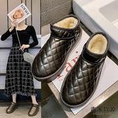 加絨加厚雪地靴時尚短筒短靴一腳蹬秋冬百搭女靴子潮【毒家貨源】