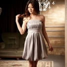 929-S簡約之美摺疊美胸燈籠裙小禮服~-美之札