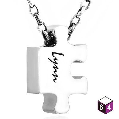 訂製項鍊 可愛字牌-拼圖 純銀項鍊C-64DESIGN銀飾訂製