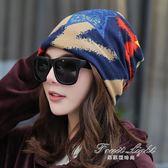 帽子女月子帽包頭帽時尚套頭帽韓版潮頭巾帽多用圍脖睡帽雙層
