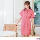《DA7836》高含棉大口袋輕甜寬版襯衫洋裝--適 XL~6L OrangeBear