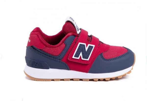 New Balance 中童紅藍寬楦休閒鞋-NO.YV574DMI