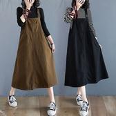 顯瘦A字版型吊帶洋裝-中大尺碼 獨具衣格 J3175