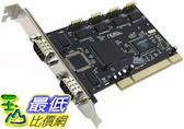 [玉山最低比價網] PCI 介面 RS-232/COM/串口卡 4 port 擴充卡 儀器/PLC/門禁(20071)