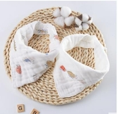 口水巾 好孩子新生兒口水巾純棉嬰兒三角巾兒童紗布巾寶寶圍兜2條裝【寶媽優品】