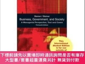 二手書博民逛書店Business罕見Government And Society: A Managerial Perspectiv