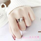 新款玫瑰金微鑲鋯石百搭婚戒指男食指對戒鈦鋼指環情侶首飾飾品 DR3268【Rose中大尺碼】