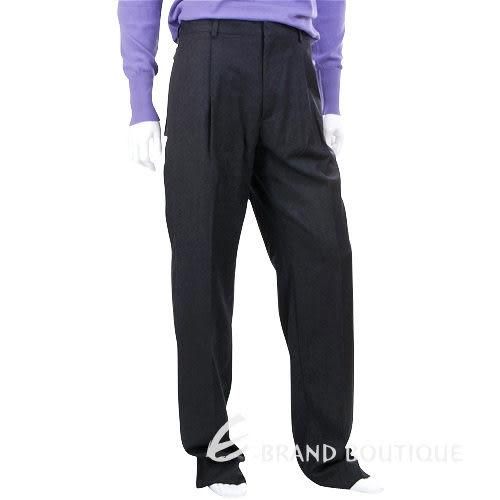 KENZO 點狀織紋抓褶西裝褲(深灰色) 0580012-11