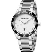 Calvin Klein CK 運動風格手錶-銀/42mm K9R31C46