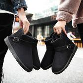 雪靴  大碼雪地靴短筒中筒靴子防滑冬季大號保暖加絨面包棉鞋