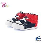 Moonstar月星童鞋 寶寶鞋 男童運動鞋 高筒運動鞋 矯正鞋 學步鞋 足弓鞋墊 日本機能鞋 J9657#紅藍