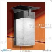 【戶外壁燈】E27 單燈。不鏽鋼 烤沙黑色 進口壓克力罩 歐式壁掛款※【燈峰照極my買燈】#gC060-1