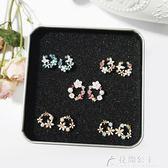 韓國超仙耳環耳釘女氣質簡約個性潮人耳墜百搭花瓣純銀清新耳飾花間公主