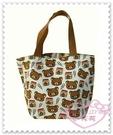 ♥小花花日本精品♥《Rilakkuma》拉拉熊提袋手提袋購物袋便當袋大臉滿版圖丸子 42128106
