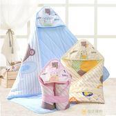 嬰兒抱被新生兒春秋棉質包被夾棉薄款抱毯寶寶包巾用品夏季冷氣被 全館滿千89折