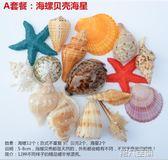 魚缸擺件 天然海螺貝殼珊瑚大海星水族箱裝飾魚缸造景套餐工藝品擺件母海膽 第六空間