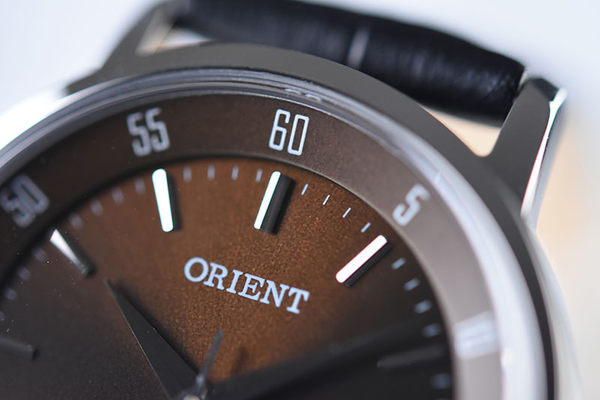 ORIENT 東方錶 SLIM系列 優雅數字藍寶石鏡面石英錶 女生皮帶款 FUNG6004T 咖啡色 - 31mm