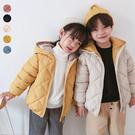 兒童菱格連帽鋪棉外套 厚外套 長袖外套 ...