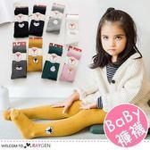 秋冬女童雙針刺繡卡通圖案連身褲襪 打底褲