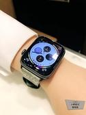 復古朋克漸變色適用apple watch錶帶蘋果手表iwatch表帶【小檸檬3C】