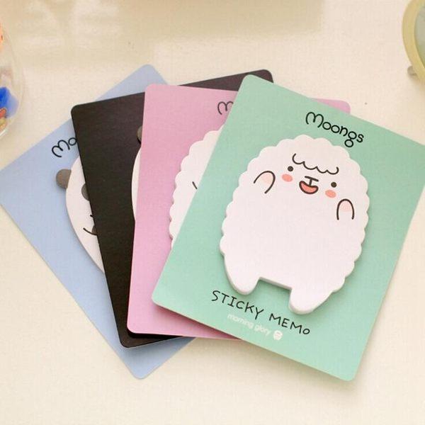 【筆紙膠帶】便籤紙 小羊羔 小熊 創意 卡通 可愛 N次貼 便簽本 便利貼 標籤紙