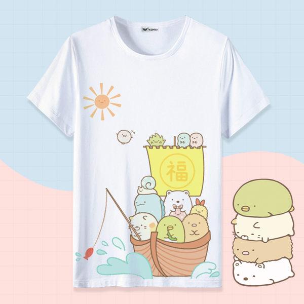 角落生物t恤卡通可愛貓咪白熊二次元動漫周邊衣服男女寬鬆短袖夏 寶貝計畫