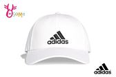 adidas 運動帽 鴨舌帽 硬頂 三線標老帽 A0472#白色◆OSOME奧森童鞋
