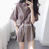 現貨 版型超讚 寬鬆薄棉麻襯衫 CC KOREA ~ Q16678