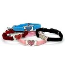 貓咪項圈 愛心帶鉆小型犬狗脖套鑲鉆頸圈含鈴鐺可愛貓用品 js14462『科炫3C』