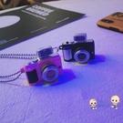 情侶項鍊 復古仿小相機項鍊閃光可發聲抖音嘻哈吊墜男女鍊子情侶配飾潮 2色