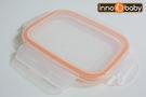 [美國 Innobaby] 不鏽鋼雙層保鮮餐盒-專用盒蓋 (上蓋+橘色膠條)