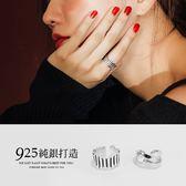 限量現貨★PUFII-戒指 925純銀直線/鏤空造型戒指 2色-1213 現+預 冬【CP15752】