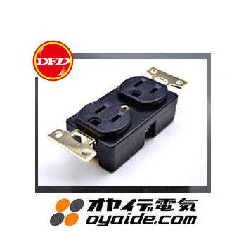 日製Oyaide SWO-DX 2孔電源插座(牆壁用)