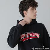 【GIORDANO】男裝 Dreamers系列復古風連帽T恤-03 標誌黑