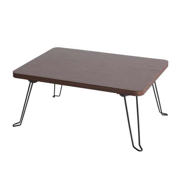 樂嫚妮 和室茶几邊桌 折疊桌 矮桌 寬-40cm 淺胡桃木色