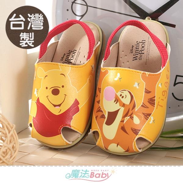 幼童鞋 台灣製迪士尼小熊維尼正版止滑手工涼鞋 魔法Baby