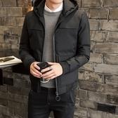 夾克外套-連帽冬季時尚休閒百搭夾棉男外套3色73qa30【時尚巴黎】