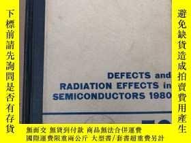 二手書博民逛書店defects罕見and radiation effects i