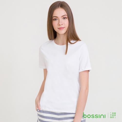 素色圓領短袖T恤01白-bossini女裝